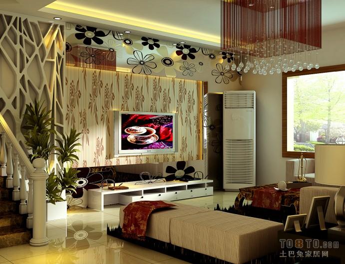 热门混搭设计效果图96平客厅潮流混搭客厅设计图片赏析