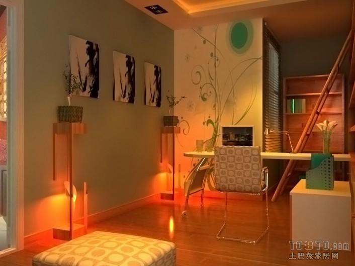 精美72平混搭二居书房设计图功能区潮流混搭功能区设计图片赏析