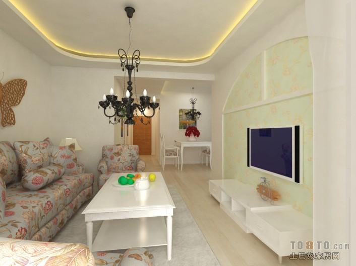 典雅61平混搭二居客厅案例图潮流混搭设计图片赏析
