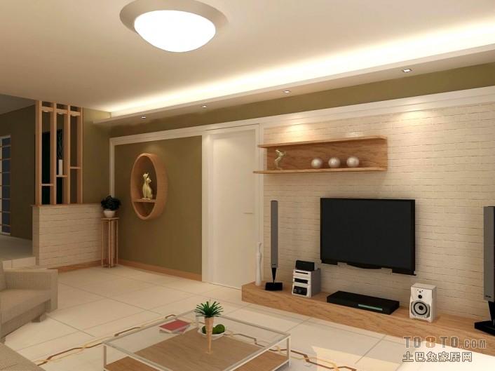 2018精选大小80平混搭二居客厅装修实景图片客厅潮流混搭客厅设计图片赏析