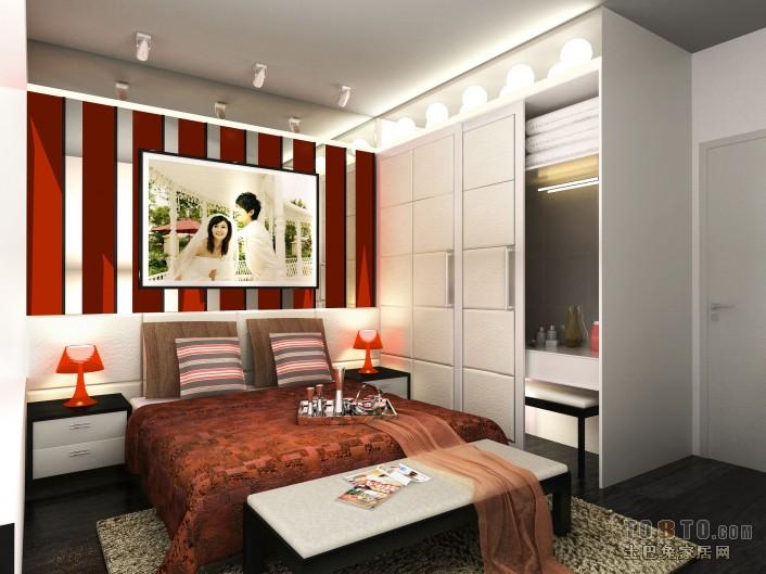简洁82平混搭二居卧室图片大全卧室潮流混搭卧室设计图片赏析