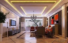 精选面积135平混搭四居客厅欣赏图