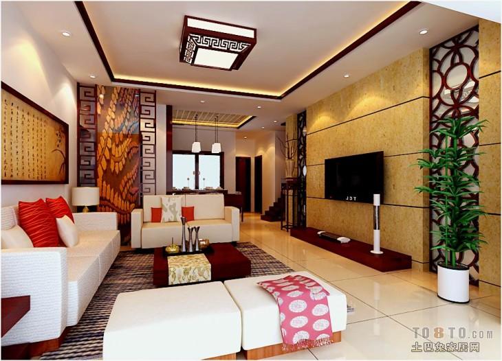 2018精选91平方三居客厅混搭装饰图片客厅潮流混搭客厅设计图片赏析