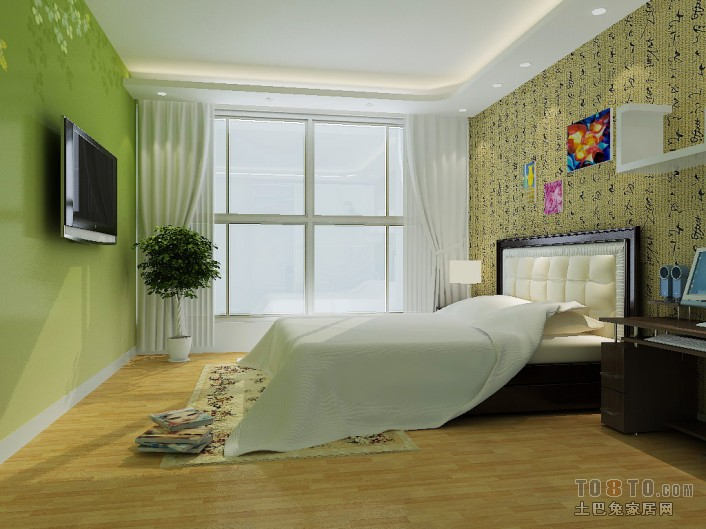 次卧02View01卧室潮流混搭卧室设计图片赏析