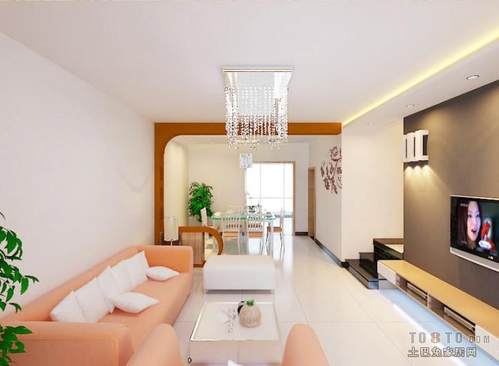 精美105平米三居混搭效果图片客厅潮流混搭客厅设计图片赏析