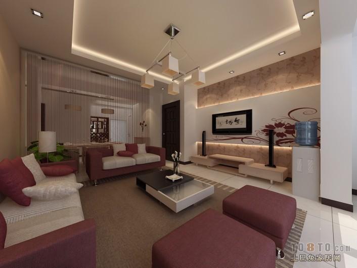 热门102平大小客厅三居混搭欣赏图片客厅潮流混搭客厅设计图片赏析