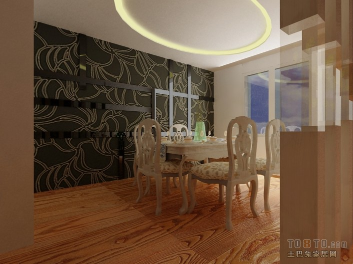 欧式现代餐厅装修效果图