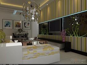 大气现代简约客厅地板