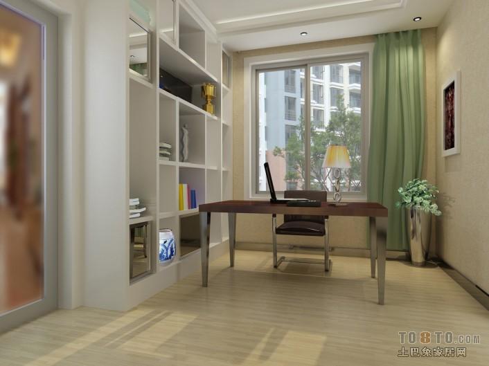 现代风格书房装修效果图 高清图片