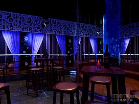 夜色酒吧餐桌装修效果图