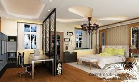 现代中式风格卧室室内效果图