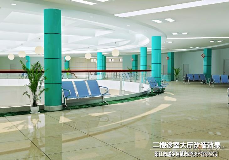 医院门诊大厅 医院设计装修效果图 高清图片