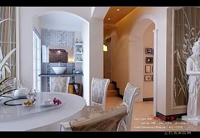 餐厅嵌入式电视背景墙设计图