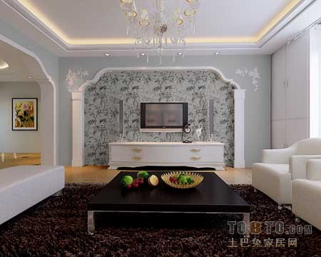 1电视背景墙二【单张】-客厅装修效果图-土巴兔装修