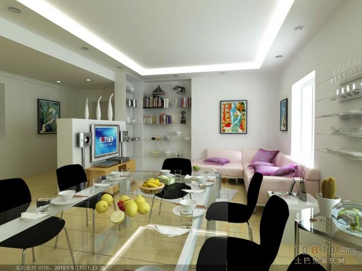 现代风格客厅装修效果图 单张展示 玉田坝高层住宅装修效高清图片