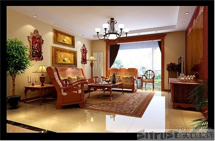 中式现代客厅装修效果图 单张展示 昌平区东小口镇的商品房地块装修高清图片