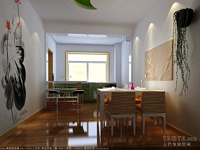 清爽80平米2室一厅效果图