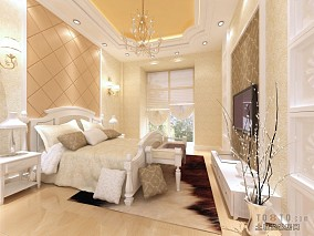 床头白色软包背景墙