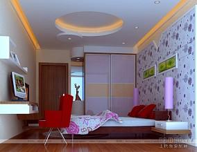 室内简约卧室原木地板