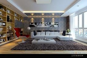 热门大小135平混搭四居客厅设计效果图