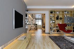 2018123平米四居客厅混搭装修实景图片大全
