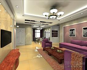 精选106.3平米3室客厅混搭装修实景图片欣赏