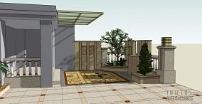 石英岩-别墅庭院--现代简约风格