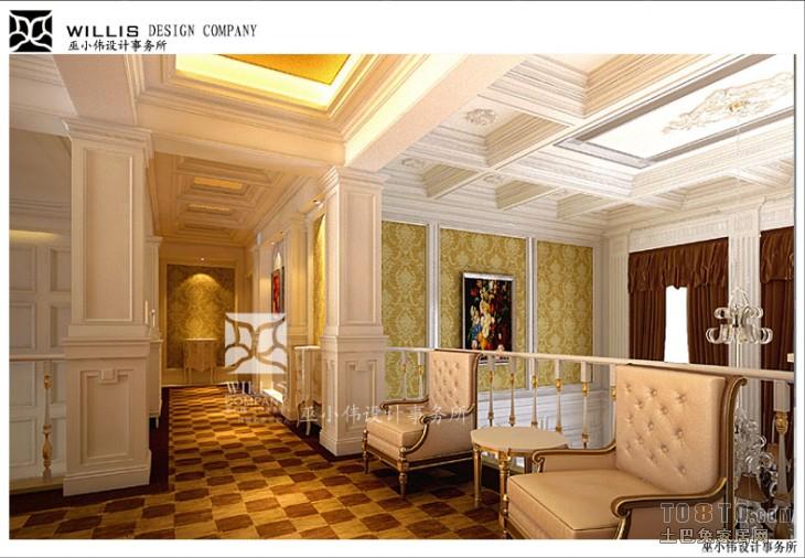 建德南郊别墅-欧式古典客厅装修效果图