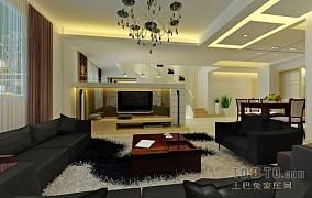 热门面积135平复式客厅混搭装修效果图