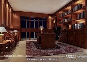 欧式小卧室带书房装修效果图