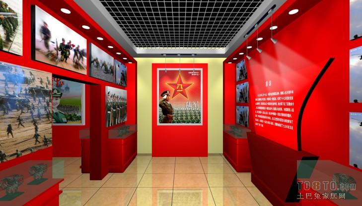 部队荣誉室 常见公装装修效果图 高清图片