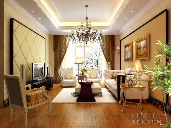 欧式现代客厅装修效果图图片