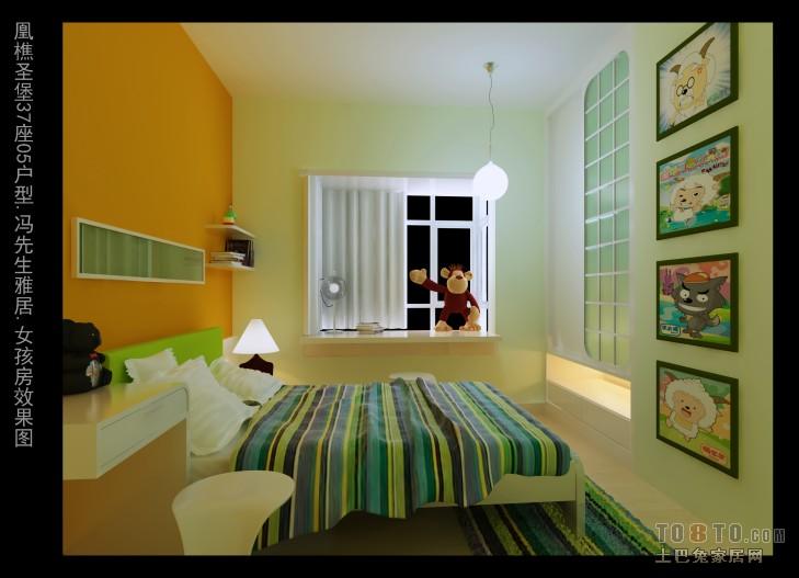 轻奢79平混搭三居儿童房美图卧室潮流混搭卧室设计图片赏析