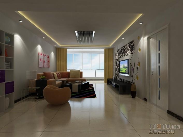 精美面积74平混搭二居客厅欣赏图客厅潮流混搭客厅设计图片赏析
