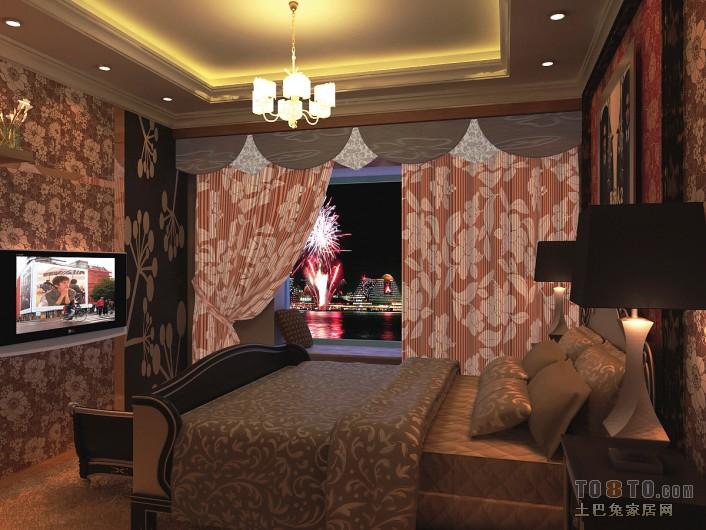 2018精选71平米二居卧室混搭效果图卧室潮流混搭卧室设计图片赏析