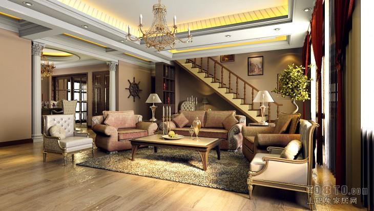 热门114平米混搭复式客厅装修实景图片大全客厅潮流混搭客厅设计图片赏析
