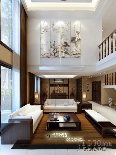 009别墅设计C1客厅潮流混搭客厅设计图片赏析
