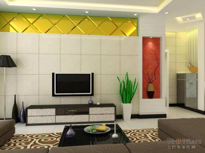轻奢83平混搭二居客厅装潢图客厅潮流混搭客厅设计图片赏析