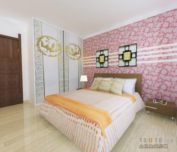 悠雅63平混搭二居卧室图片欣赏卧室潮流混搭卧室设计图片赏析