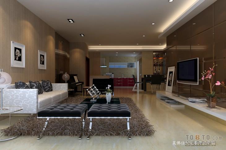 精选87平混搭二居效果图片大全客厅潮流混搭客厅设计图片赏析