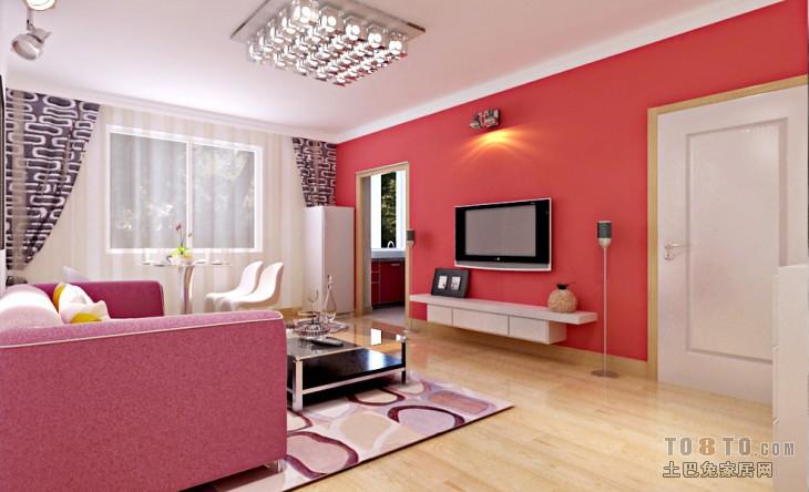 精美87平二居混搭装修效果图片大全客厅潮流混搭客厅设计图片赏析