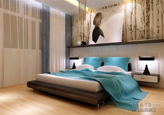 精选面积102平混搭三居卧室装饰图卧室潮流混搭卧室设计图片赏析