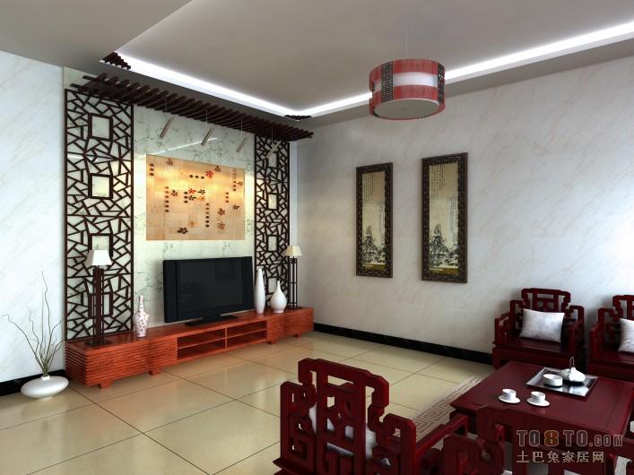 中式2副本客厅潮流混搭客厅设计图片赏析
