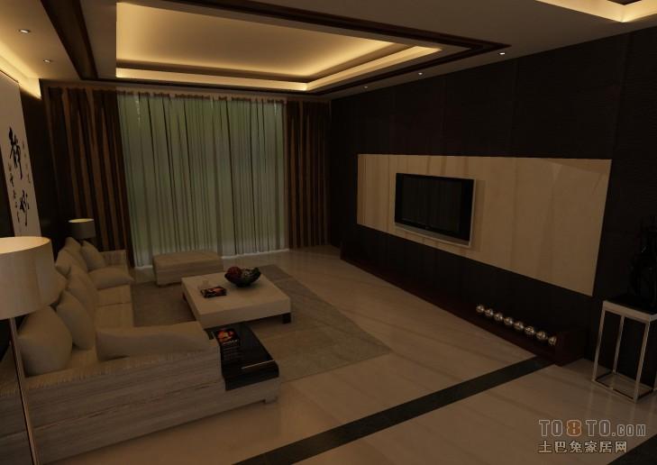 热门89平方二居客厅混搭装修效果图客厅潮流混搭客厅设计图片赏析