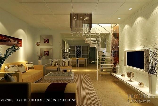 大气76平混搭复式客厅装修效果图客厅潮流混搭客厅设计图片赏析