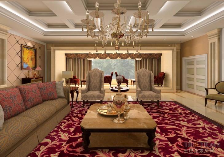1楼大厅7客厅潮流混搭客厅设计图片赏析