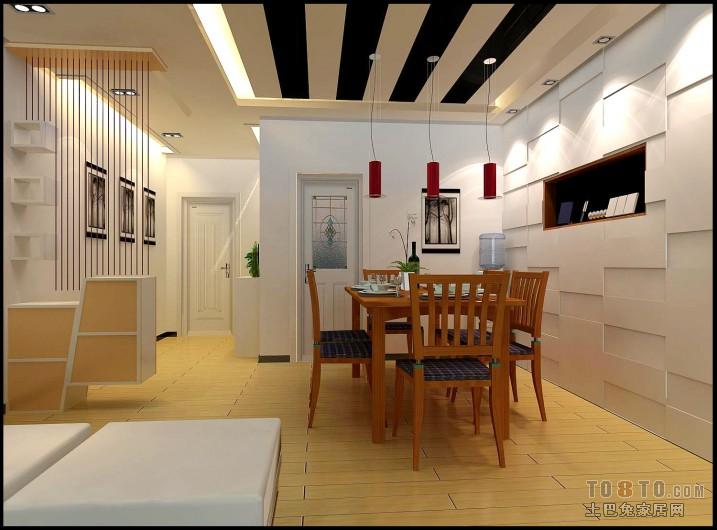 热门大小91平混搭三居餐厅装修实景图片厨房潮流混搭餐厅设计图片赏析