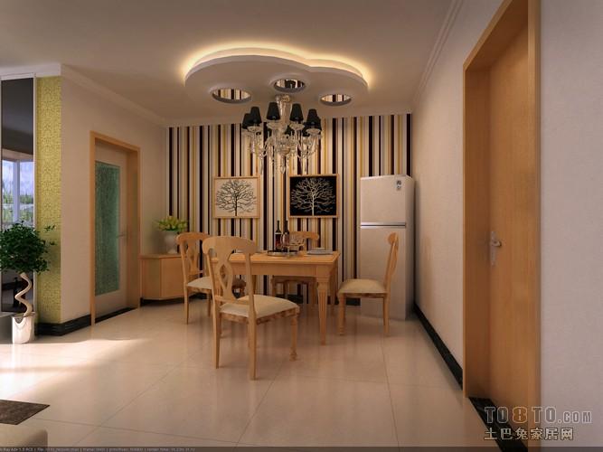 平混搭二居餐厅效果图厨房潮流混搭餐厅设计图片赏析
