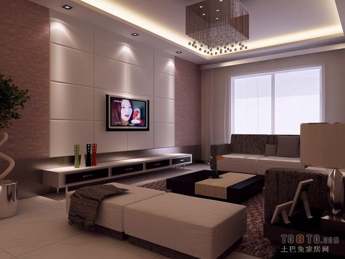 悠雅62平混搭二居客厅设计案例客厅潮流混搭客厅设计图片赏析