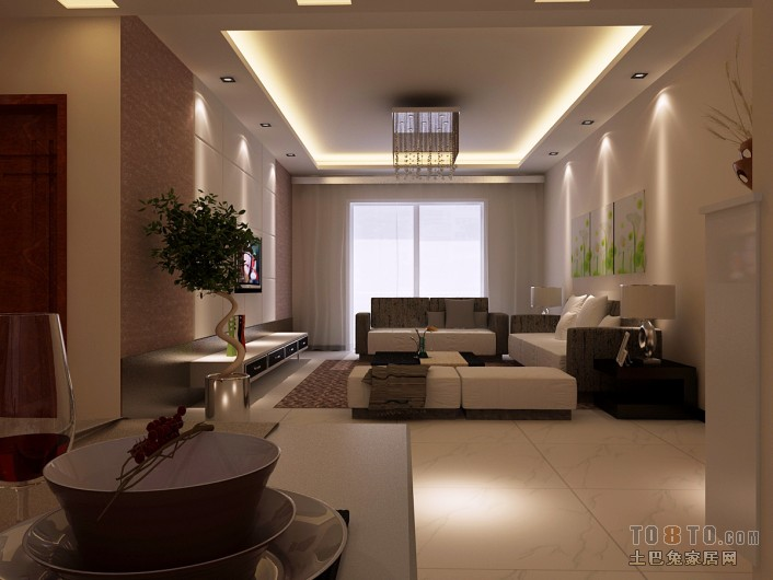精美89平混搭二居客厅装饰图片大全客厅潮流混搭客厅设计图片赏析